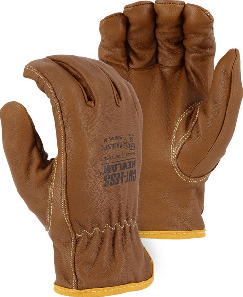 Case of 72 Pair Majestic FR A4 Cut Level Kevlar Goatskin Gloves 1555WRK