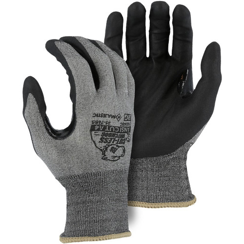 Case of 120 Pair Majestic A4 Cut Level Watchdog Gloves with Foam Nitrile Palm Coating 35-7465