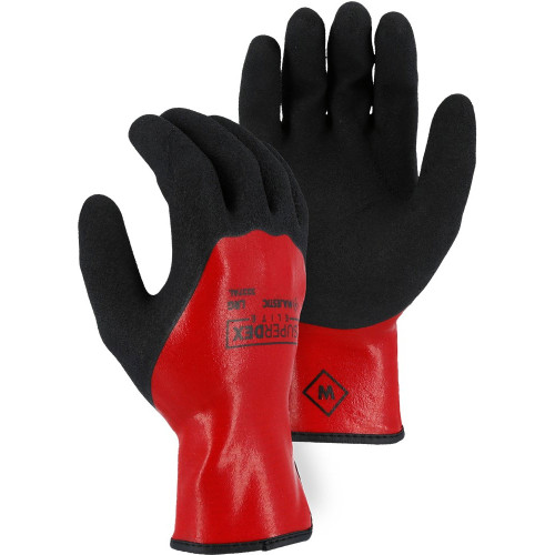 Box of 12 Pair Majestic SuperDex Liquid Resistant Double Dip General Purpose Gloves 3237AL