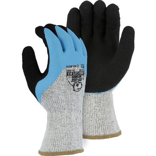 Box of 12 Pair Majestic A5 Cut Level Winter Lined Watchdog Gloves with Sandy Latex Palm 35-1585