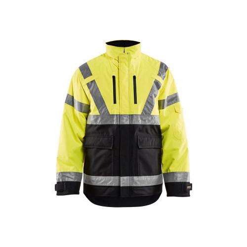 Blaklader Class 3 Hi Vis Winter Jacket 492719773399 Yellow Front