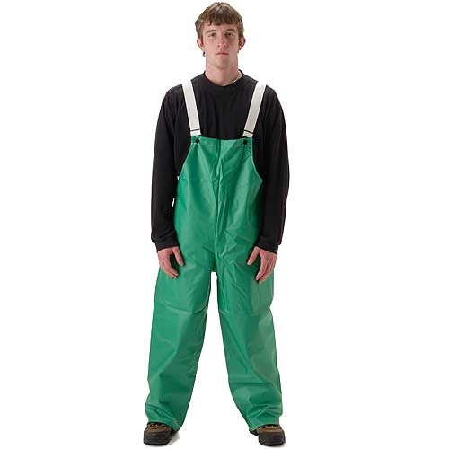 NASCO ASTM D6413 AcidBasic Chemical Handling Industrial Bib Rain Pants 52TG Front