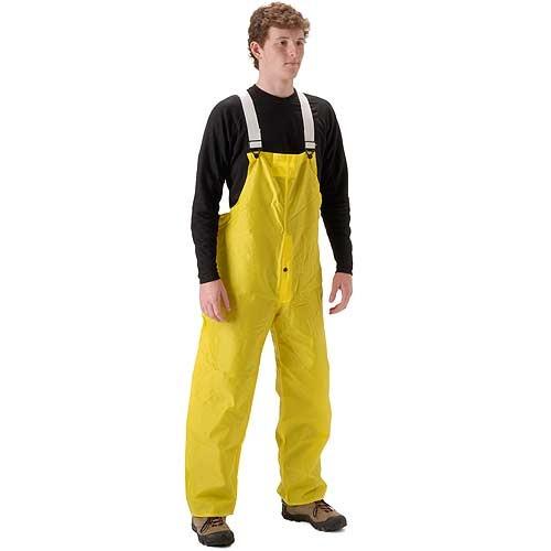 NASCO ASTM D6413 WorkLite Bib Rain Pants Elastic Suspenders Snap Fly 80TY