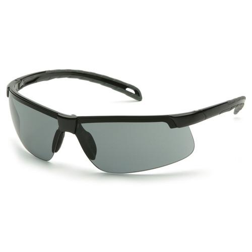 Box of 12 Pyramex Ever-Lite Gray Lens Black Frame Safety Glasses SB8620D Side