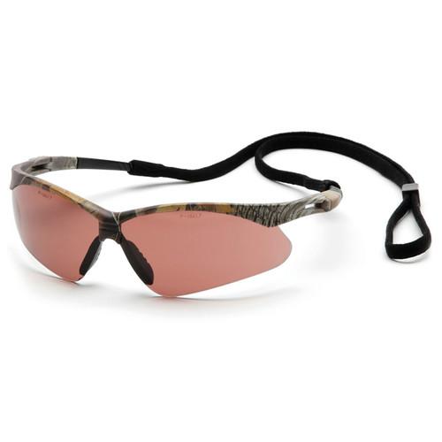 SCM6318STP Pyramex Safety Glasses PMXTREME Sandstone Bronze Anti-Fog with Cord - Box Of 12