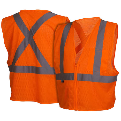 Class 2 Orange X-Back Safety Vest RCZ2120