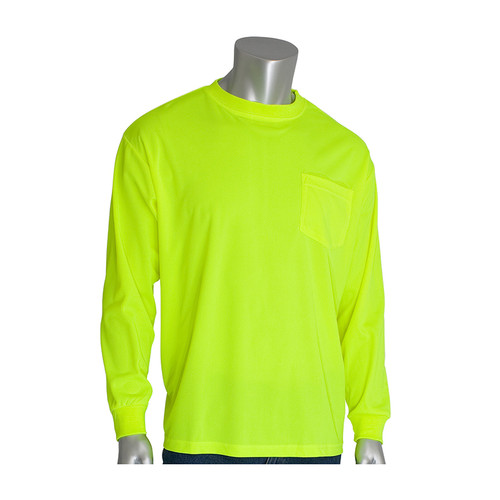 PIP Non-ANSI Hi Vis Long Sleeve T-Shirt 310-1100