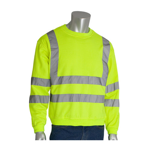 PIP Class 3 Hi Vis Yellow Crew Neck Sweatshirt 323-CNSSE Yellow