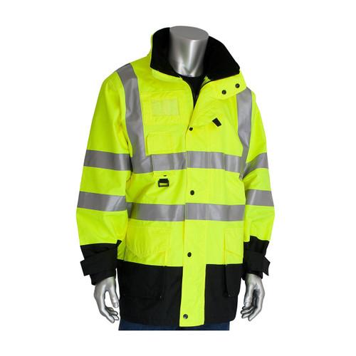 PIP Class 3 Hi Vis 7-in-1 Coat 343-1756 Yellow Coat