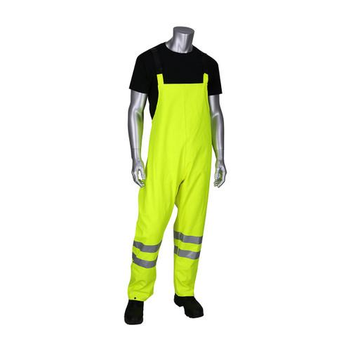 PIP FR Hi Vis Class E Heavy Duty Waterproof Bib Pants 355-2501AR Front