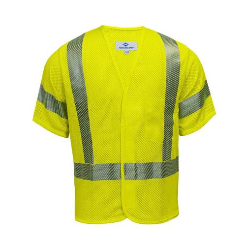NSA FR Class 3 Hi-Vis Yellow Arc Flash Mesh Vest V00HA3V