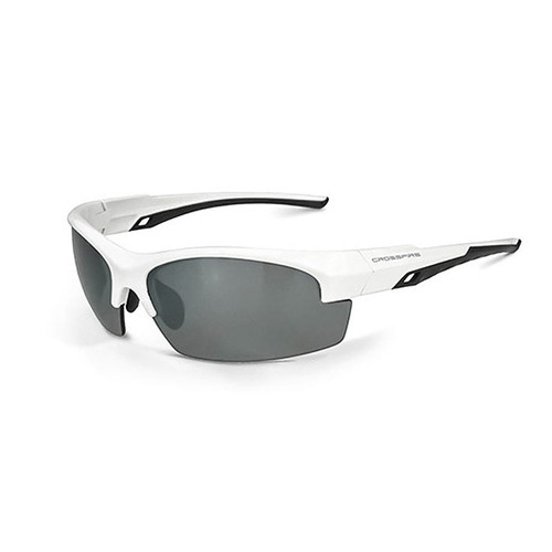 Crucible Silver Mirror Polarized White Frame Safety Glasses 40227 Box of 12
