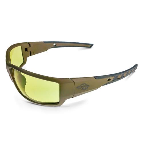 Cumulus Tan SDE Frame HD Yellow Lens Glasses 41285 Box of 12