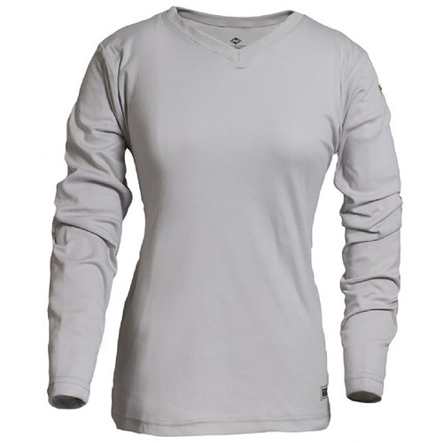 NSA Womens FR NFPA 70E Cotton Long Sleeve T Shirt C54PG-LSW