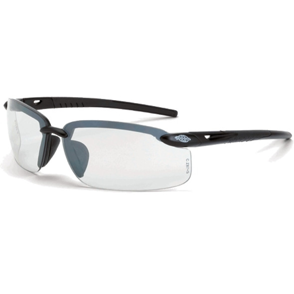 Crossfire ES4 Shiny Pearl Gray Half-Frame Clear Lens Safety Glasses 2164 - Box of 12