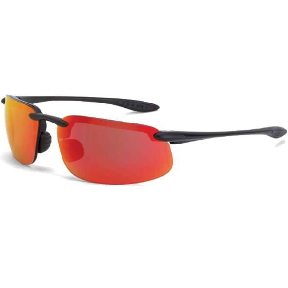 Crossfire ES4 Matte Black Half-Frame HD Red Mirror Lens Safety Sunglasses 2169 - Box of 12