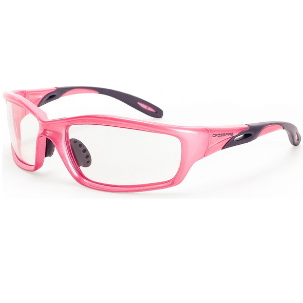 Crossfire Infinity Pearl Pink Frame Clear Lens Safety Glasses 2254 - Box of 12