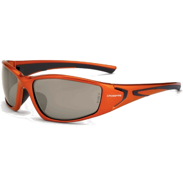 Crossfire RPG Burnt Orange Frame Demi-Copper Mirror Lens Safety Glasses 23125 - Box of 12
