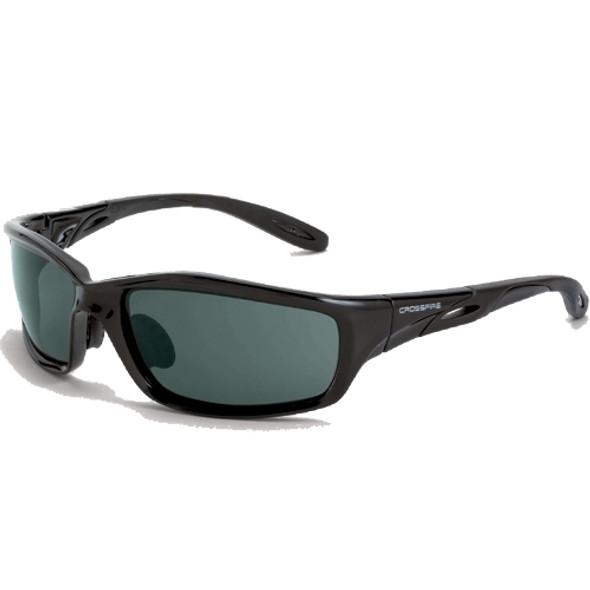 Crossfire Infinity Crystal Black Frame Smoke Lens Safety Glasses 241 - Box of 12