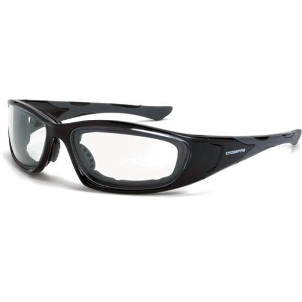 Crossfire MP7 Crystal Black Frame Clear Lens Safety Glasses 2444AF - Box of 12
