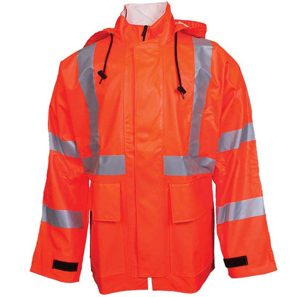 NSA FR Class 3 Hi Vis Orange Arc H2O Rain Jacket R30RQ06