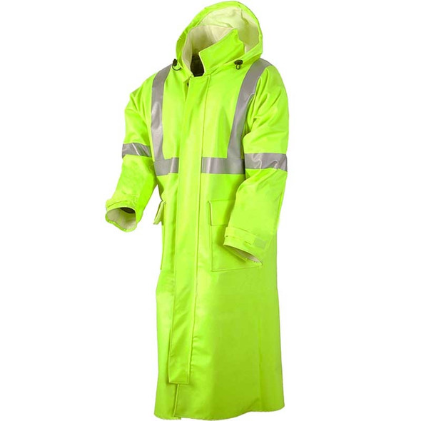 NSA FR Class 3 Hi Vis Yellow Arc H2O Made in USA Trench Coat R31RL06