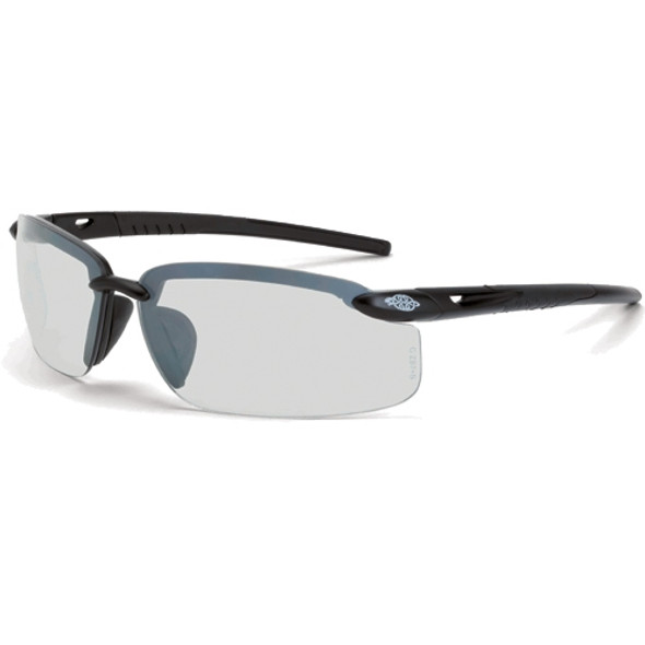 Crossfire ES5 Matte Black Half-Frame IO Lens Safety Glasses 29215 - Box of 12