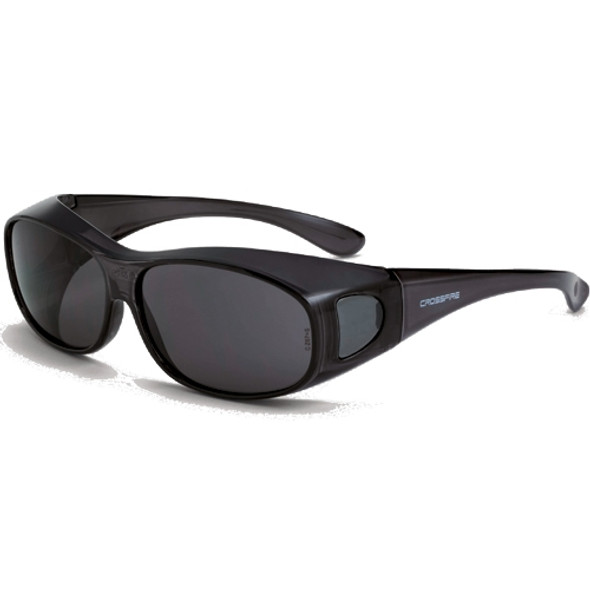 Crossfire OG3 Crystal Black Full Frame Smoke Lens OTG Safety Glasses 3116 - Box of 12