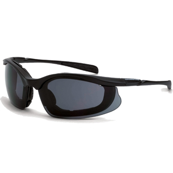 Crossfire Concept Matte Black Foam Lined Anti-Fog Smoke Lens Safety Sunglasses 821AF - Box of 12