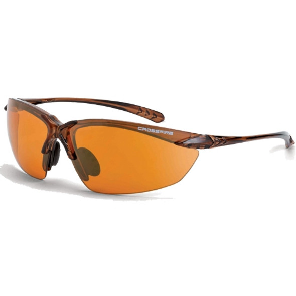 Crossfire Sniper Crystal Brown Half-Frame HD Copper Lens Safety Glasses 91116 - Box of 12
