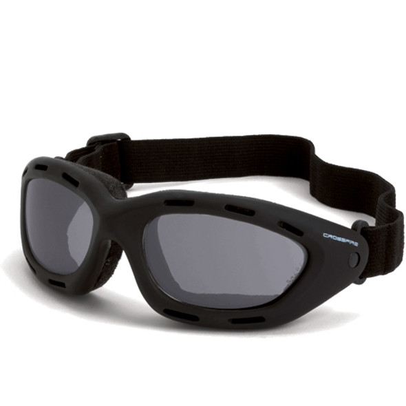 Crossfire Element Foam Lined Anti-Fog Smoke Lens Safety Goggles 91352AF - Box of 12