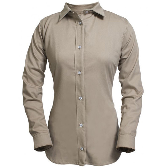 NSA Womens FR UltraSoft Button Down Shirt NFPA 70E SHRUKW
