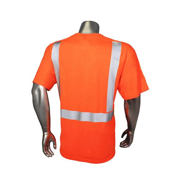 Radians Class 2 Hi Vis Orange Moisture Wicking T-Shirt HV-TS-P Back
