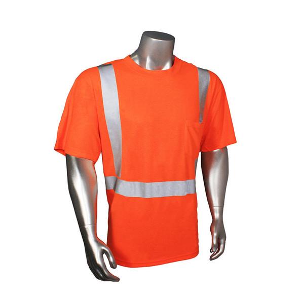 Radians Class 2 Hi Vis Orange Moisture Wicking T-Shirt HV-TS-P Front