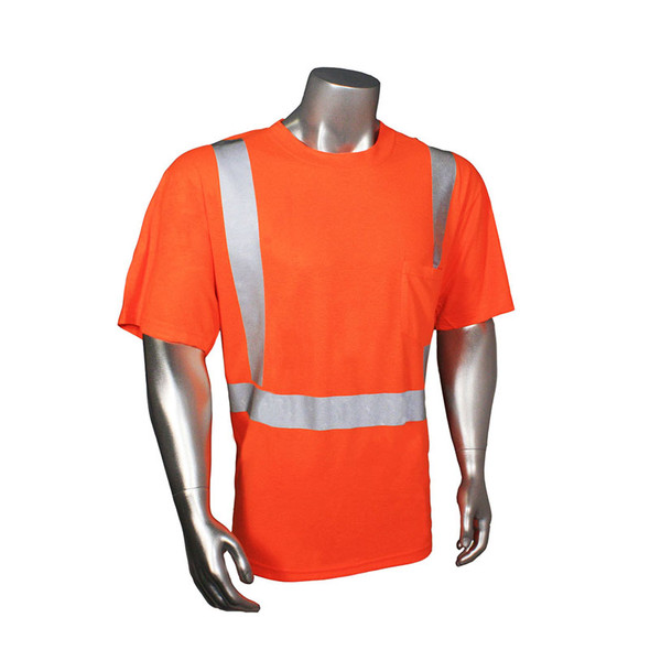 Radians Class 2 Hi Vis Orange Moisture Wicking T-Shirt HV-TS-P Front