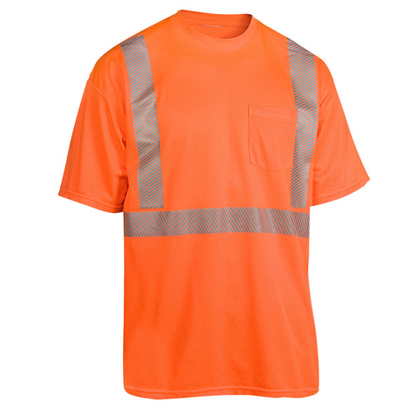 Radians Class 2 Hi Vis Orange Moisture Wicking T-Shirt HV-XTS-AR-P