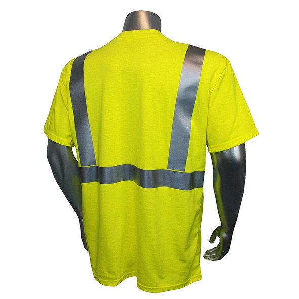 Radians FR Class 2 Hi Vis Green Short Sleeve Made in USA Shirt LHV-FR-TS Back