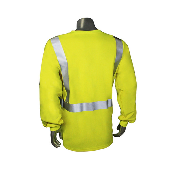 Radians FR Class 2 Hi Vis Green Long Sleeve Shirt LHV-FR-TS-LS Back