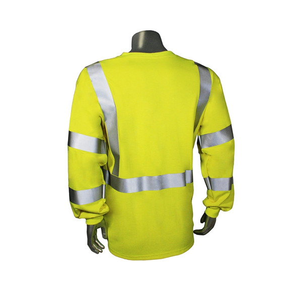 Radians FR Class 3 Hi Vis Green Long Sleeve Shirt LHV-FR-TS-LS-C3 Back
