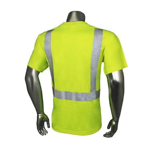 Radians Class 2 Hi Vis Lime Moisture Wicking T-Shirt LHV-TS-P Back
