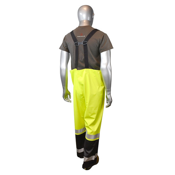 Radians Class E Green Hi Vis Black Bottom Overalls RW070-ESGV Back