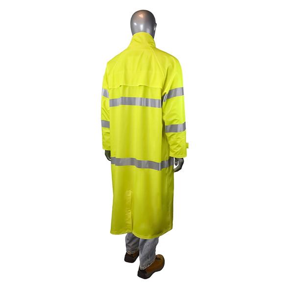 Radians ClassRadians Class 3 Hi Vis Green Raincoat RW07C-3ZGV Back