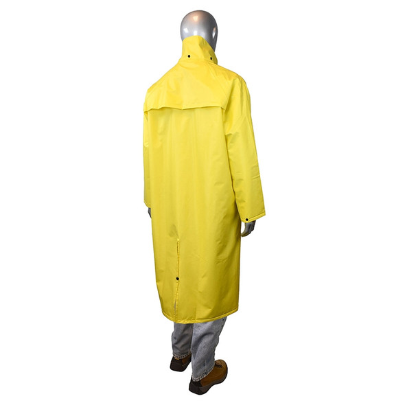 Radians Non-ANSI Hi Vis Green Drirad Raincoat RC15-NS Back