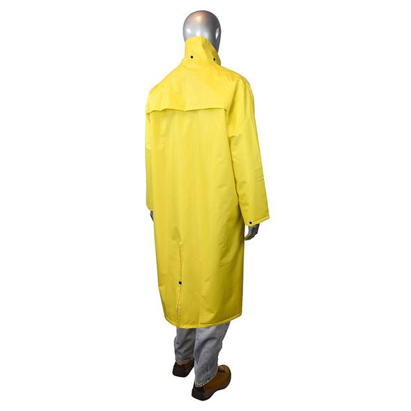 Radians Non-ANSI Hi Vis Green Drirad Raincoat RC15-NS Back
