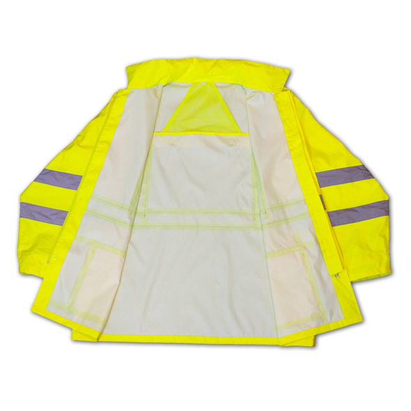 Radians Class 3 Hi Vis Green Lightweight Rain Jacket RW10-3S1Y Inside