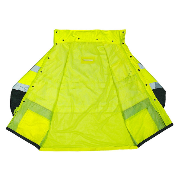 Radians Class 3 Hi Vis Green Black Bottom Rain Jacket RW30-3Z1Y Inside