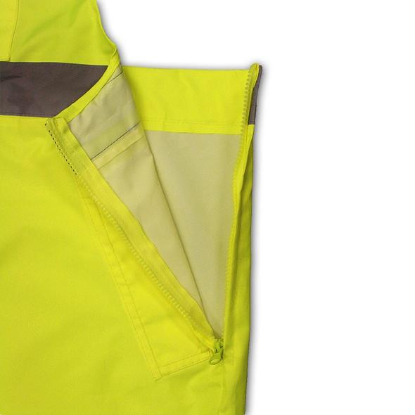 Radians Class E Hi Vis Yellow Black Bottom Bib Rain Pants RW30-ES1Y Liner