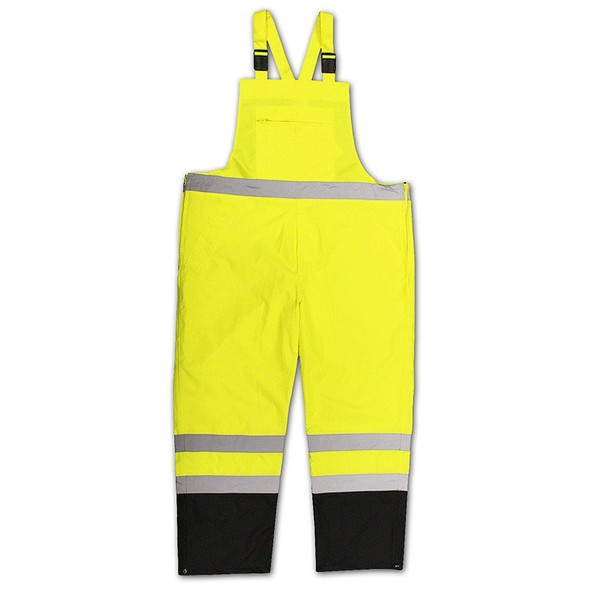 Radians Class E Hi Vis Yellow Black Bottom Bib Rain Pants RW30-ES1Y