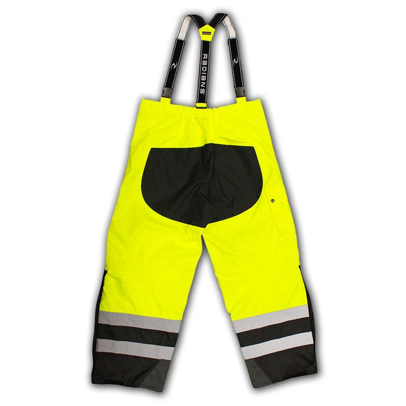 Radians Class E Hi Vis Yellow Black Bottom Rip Stop Bib Rain Pants RW32-EZ1Y Back