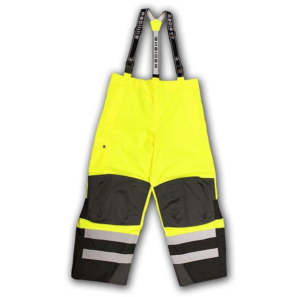 Radians Class E Hi Vis Yellow Black Bottom Rip Stop Bib Rain Pants RW32-EZ1Y